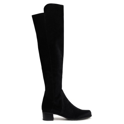 スチュワート ワイツマン STUART WEITZMAN ブーツ ブラック 34.5 紡績繊維 ブーツ