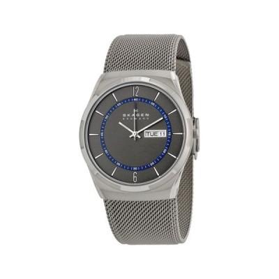 腕時計 スカーゲン Skagen Melbye グレー ダイヤル ステンレス スチール mesh ブレスレット メンズ 腕時計 SKW6078