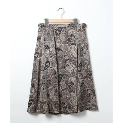 SCAPA Lサイズ / スキャパエルサイズ サテンペーズリープリントスカート