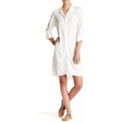Splendid スプレンディッド ファッション ドレス Splendid NEW White Womens Size XL Spread Collar Long Sleeve Shirt Dress