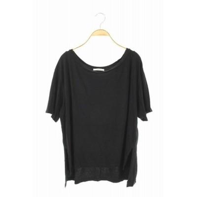 【中古】キャラクス CALUX 18SS Tシャツ 半袖 黒 /KN ■OS レディース 【ベクトル 古着】