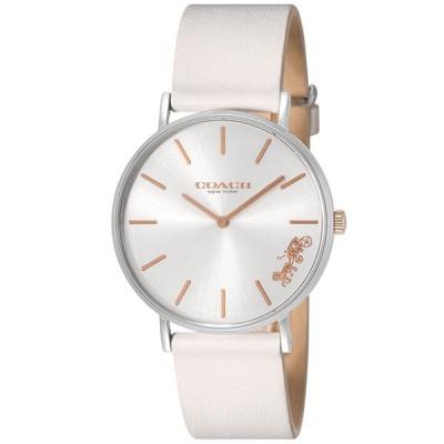 COACH レディース腕時計 PERRY ペリー 14503117 ホワイト 革ベルト