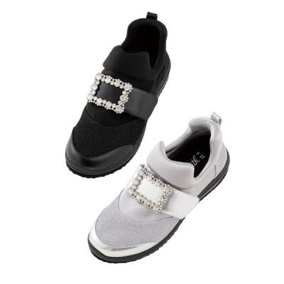 バッグ 靴 アクセサリー スニーカー コンフォートシューズ  ヌーディウォーク スニーカー(ビジューデザイン) C63102