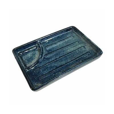 みのる陶器 仕切り付き焼物皿 藍の雪 047-696704