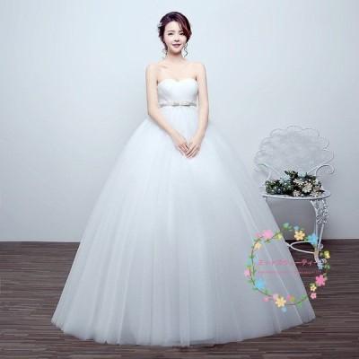 ウェディングドレス エンパイア マタニティ 安い 結婚式 白 花嫁 ウエディング ブライダル ロングドレス 披露宴 ウエディングドレス 二次会 パーティードレス