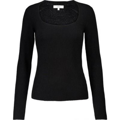 ヴィンス Vince レディース ニット・セーター トップス ribbed-knit cashmere sweater Black