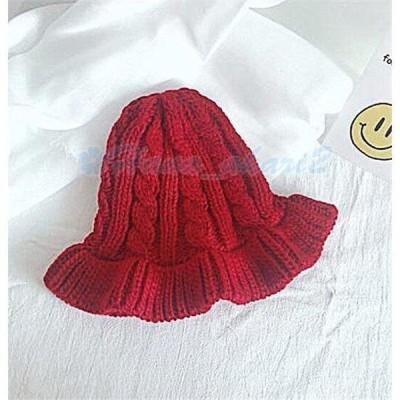 ニット帽小顔効果防寒対策帽子レディース大きいサイズニットキャップゆったり秋冬ふわふわ毛糸暖か編み
