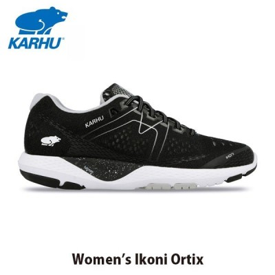 KARHU カルフ レディース スニーカー IKONI ORTIX ジェットブラック×ホワイト KH200266