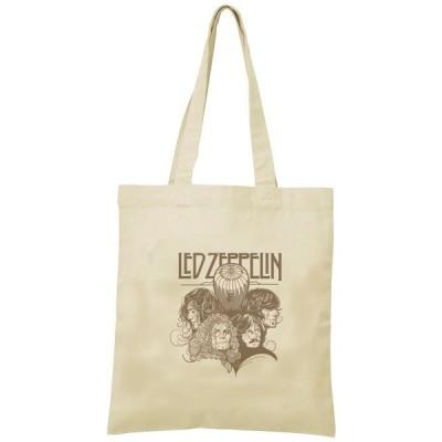 LEDZEPPELIN トートバッグ キャンバス 12oz 綿100% ナチュラル色 音楽 バンド シネマ 人物 B4サイズ