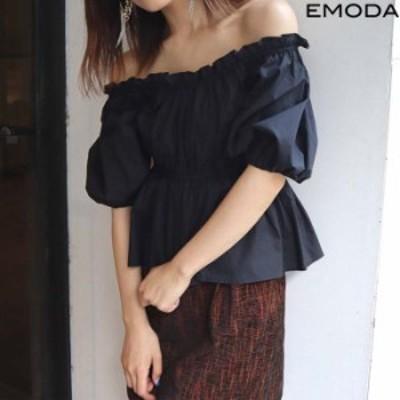 EMODA エモダ 通販 サイドシャーリングトップ 042042751601 レディース 2020秋 TOPS ブラウス