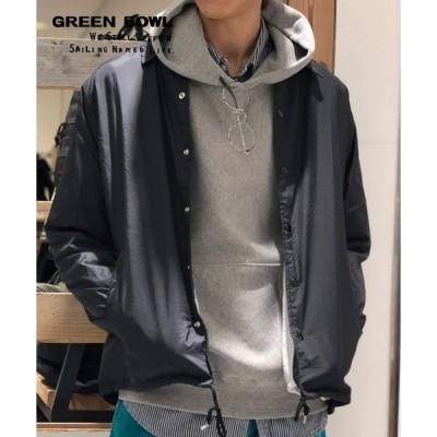 【SALE】グリーンボウル【GREEN BOWL】Nylon Coach Jacket(Embroidery) ナイロン コーチジャケット 刺繍