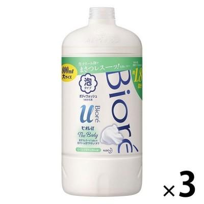 ビオレu ザ ボディ 泡タイプ ヒーリングボタニカルの香り 詰め替え 800ml 3個 花王