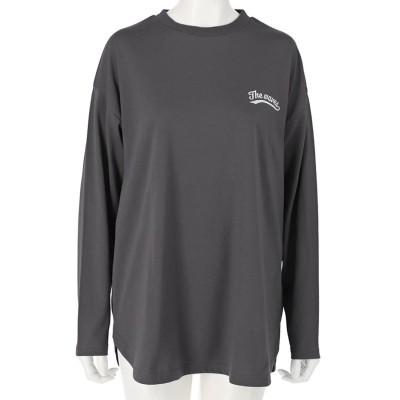 anap mimpi 裾ラウンドプリントロングTシャツ(ダークグレー)