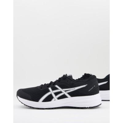 アシックス Asics メンズ ランニング・ウォーキング シューズ・靴 Running Patriot 12 trainers in black and white ブラック