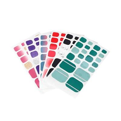 Lurrose ネイルステッカー ネイルシール 貼るだけ 簡単 夏 マニキュア装飾 足 おしゃれ ネイルアクセサリー レディース 6枚セット (混合色
