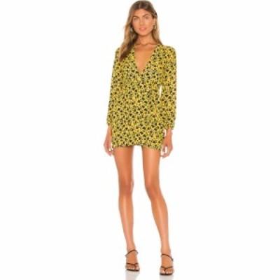 レサ RESA レディース ワンピース ミニ丈 ワンピース・ドレス Cameron Mini Dress Yellow Floral