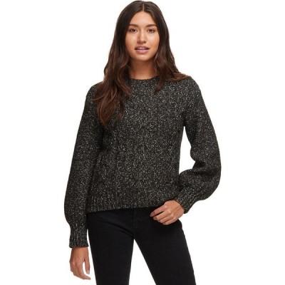 (取寄)ベイスン・アンド・レンジレディース ケーブル ニット ベル スリーブ セーター Basin and Range Women Cable Knit Bell Sleeve Sweater Black