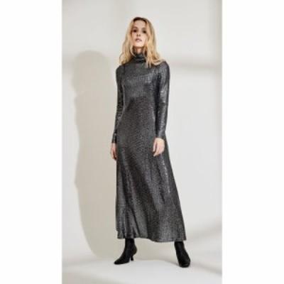 ロゼッタゲティー Rosetta Getty レディース ワンピース キャミワンピ ワンピース・ドレス Camisole Dress Paillette Black/Silver