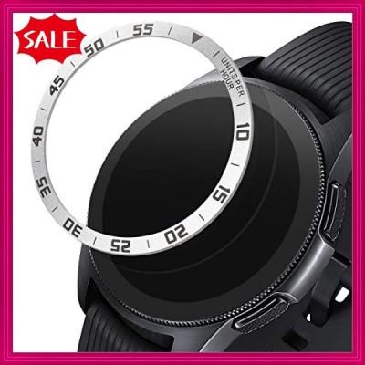 kwmobile 対応: Samsung Galaxy Watch (42mm) ベゼルリング フィットネストラッカー - ベゼル保護 ウォッチに個性を シルバ