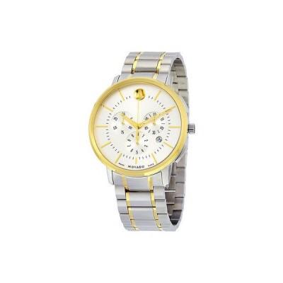 モバード 腕時計 Movado Thin クラシック クロノグラフ ツートン ステンレス スチール メンズ 腕時計 0606887