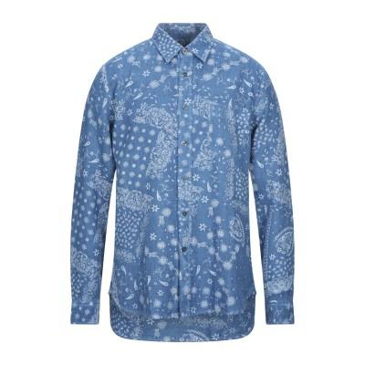 120% シャツ アジュールブルー M リネン 100% シャツ