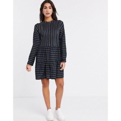 ヴェロモーダ レディース ワンピース トップス Vero Moda shirt smock dress in stripe Stripe