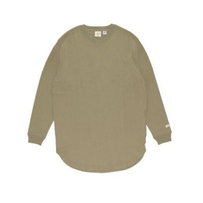 【バックヤードファミリー】 Goodwear 2w7 5504 袖リブ ロング丈 ロングTシャツ メンズ ベージュ Mサイズ BACKYARD FAMILY