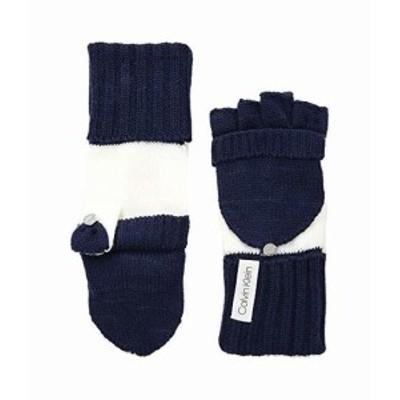 カルバンクライン レディース 手袋 グローブ Color Block Flip Top Gloves