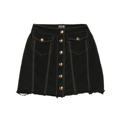 VERSACE JEANS COUTURE デニムスカート ブラック 42 コットン 100% デニムスカート