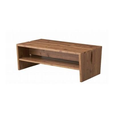 マガジンラックテーブル 幅100×奥行55×高さ36 強化プリント紙化粧合板 代引不可