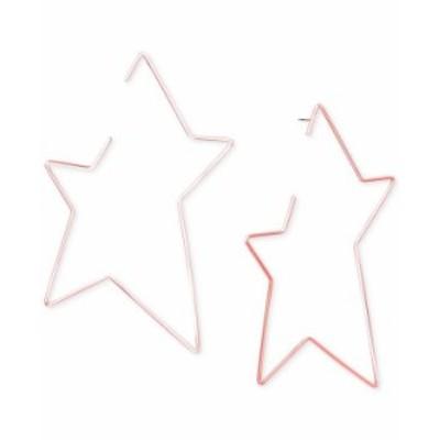 スティーブ マデン レディース ピアス・イヤリング アクセサリー Rose Gold-Tone Open Star Drop Earrings Pink