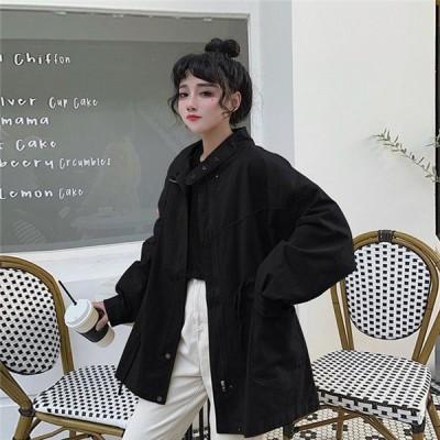 ジャケット レディース 秋 2019 コート ゆったり アウター 春 トップス カジュアル 20代 30代