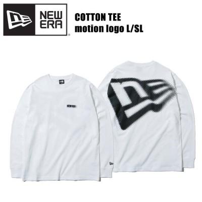 ニューエラ NEW ERA 長袖 コットン Tシャツ モーションロゴ L/SL White  長袖Tシャツ 男性用[AA]