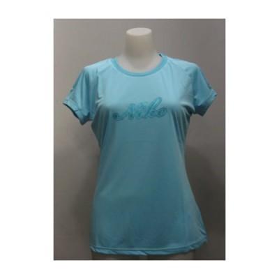 ナイキ レディース Tシャツ フィットドライ ラメプリント 272421 サックス nike