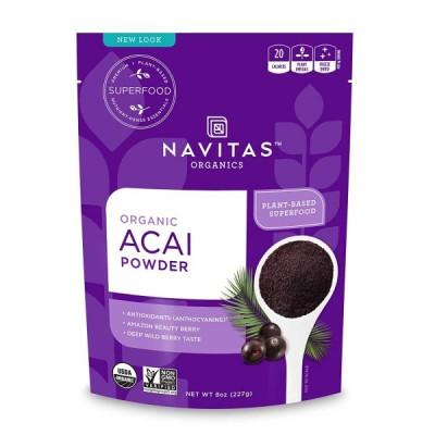 オーガニックアサイパウダー Navitas Organics NVN-003 凍結乾燥グルテンフリー