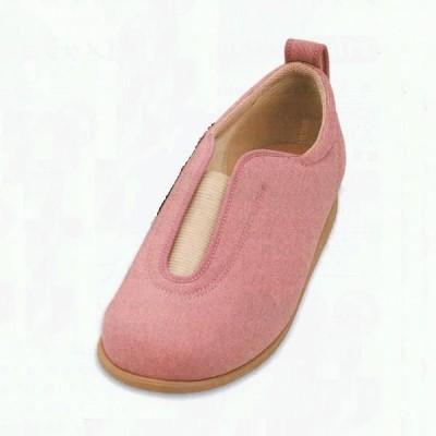 介護靴 あゆみシューズ 1023 センターゴムII ピンク