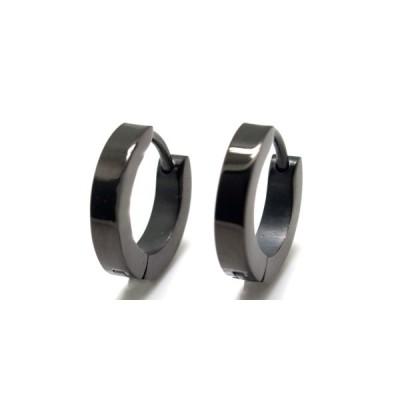 メンズ ピアス 両耳 アクセサリー シンプル かっこいい おもしろ シンプルブラック ステンレスピアス 2.5mm ES-020bk25x 1610