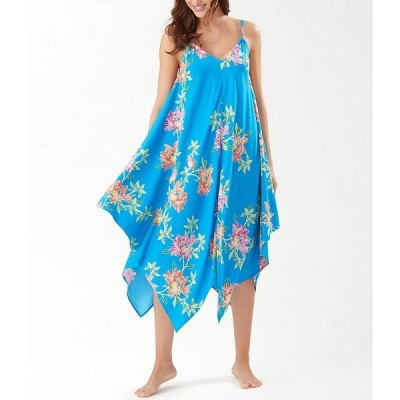 トッミーバハマ レディース ワンピース トップス Sun Lilies Double Strap Swim Cover Up Scarf Dress Azure Blue