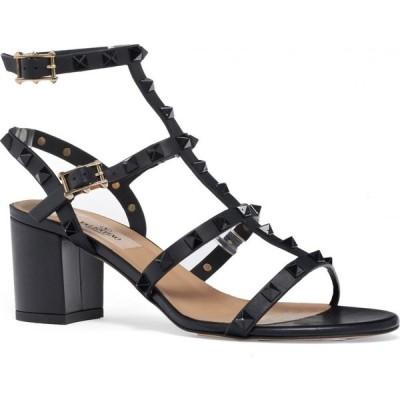 ヴァレンティノ VALENTINO GARAVANI レディース サンダル・ミュール シューズ・靴 Rockstud Block Heel Sandal Black Tonal