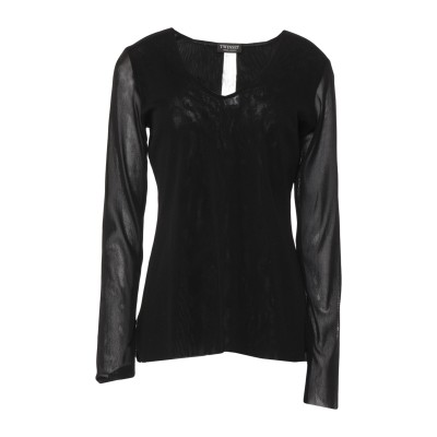 ツインセット シモーナ バルビエリ TWINSET T シャツ ブラック XL ナイロン 100% T シャツ