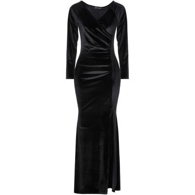 VANESSA SCOTT ロングワンピース&ドレス ブラック S ポリエステル 95% / 指定外繊維(その他伸縮性繊維) 5% ロングワンピース
