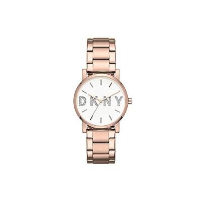 DKNY レディース「Soho」クォーツ ステンレススチール カジュアルウォッチ カラー:ローズゴールド調 (モデル:NY2654)