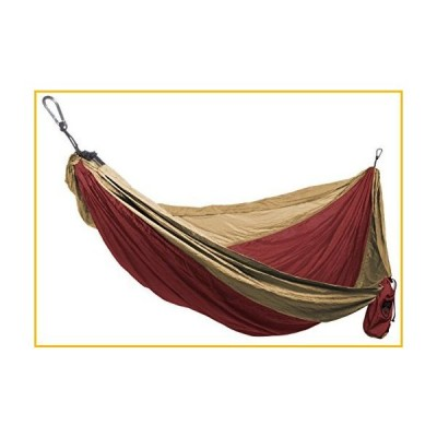 <送料無料*新品・未使用品*>Grand Trunk Double Parachute Printed Nylon Hammock: Portable with Carabiners and Hanging Kit -