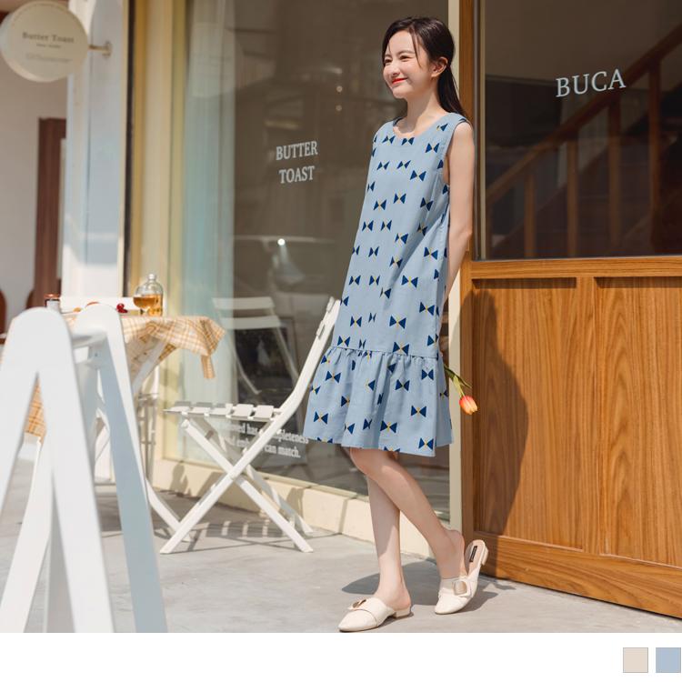 親子系列~可愛滿版圖樣無袖魚尾長裙