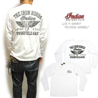 IndianMotorcycle インディアンモーターサイクル 長袖Tシャツ FLYING WHEEL フライングホイール IM68594 ロングTシャツ