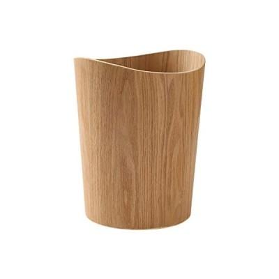 木製ゴミ箱ごみ箱 ダストボックス 上開き 木製ごみ箱 9L 丸/ナチュラル ダストボックス コンパクト リビング くず入れ ゴミ入れ (ナチュラル)