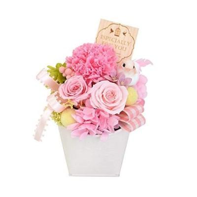 花由 プリザーブドフラワー ハッピーバード ピンク クリアケース入り