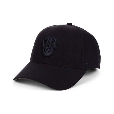 47ブランド 帽子 アクセサリー メンズ Milwaukee Brewers Black Series MVP Cap Black/Black