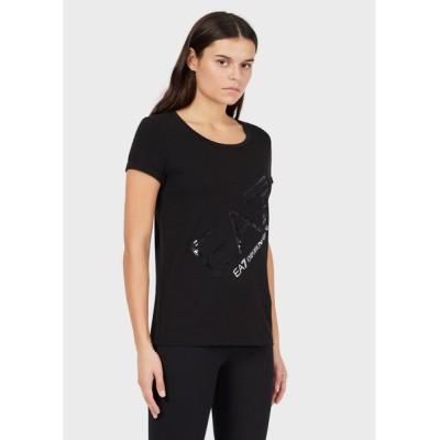 tシャツ Tシャツ 【エンポリオ アルマーニ EA7】TRAIN LOGO SERIES EA7ロゴ スリムTシャツ