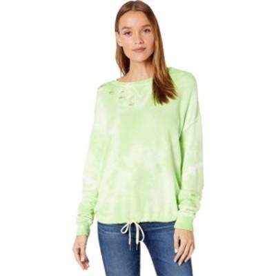 フィランソロピー n:philanthropy レディース スウェット・トレーナー トップス Olympia Tie-Dye Distressed Sweatshirt Chartreuse Ecli